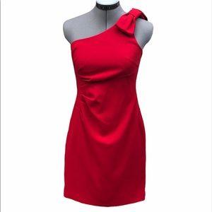 Ann Taylor red dress EUC